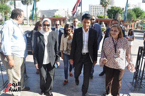 رئيس مدغشقر فى المتحف المصرى بالتحرير (1)
