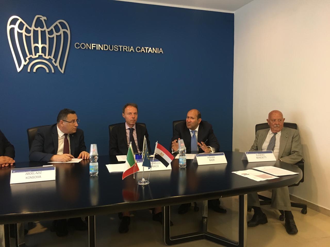محافظ الاسكندرية يبحث تعزيز الاستثمار مع  اتحاد الصناعات بصقلية (2)