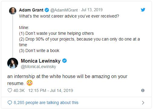 مونيكا لوينسكى تغرد حول فضيحة الجنسية فى البيت الأبيض من 20 عاما.. أعرف القصة؟ (2)