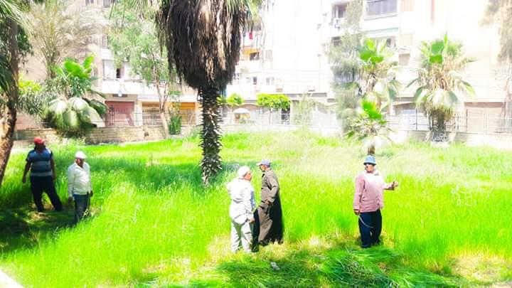 رفع كفاءة حدائق شجرة الدر والمجزر (1)