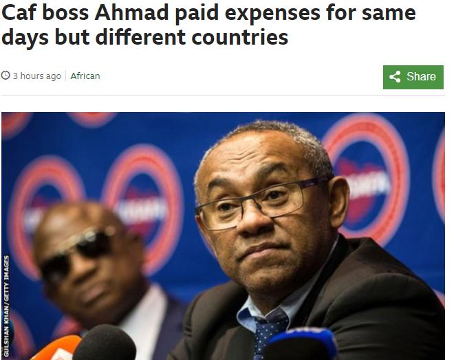 بي بي سي تدين رئيس الكاف بتهم فساد جديدة