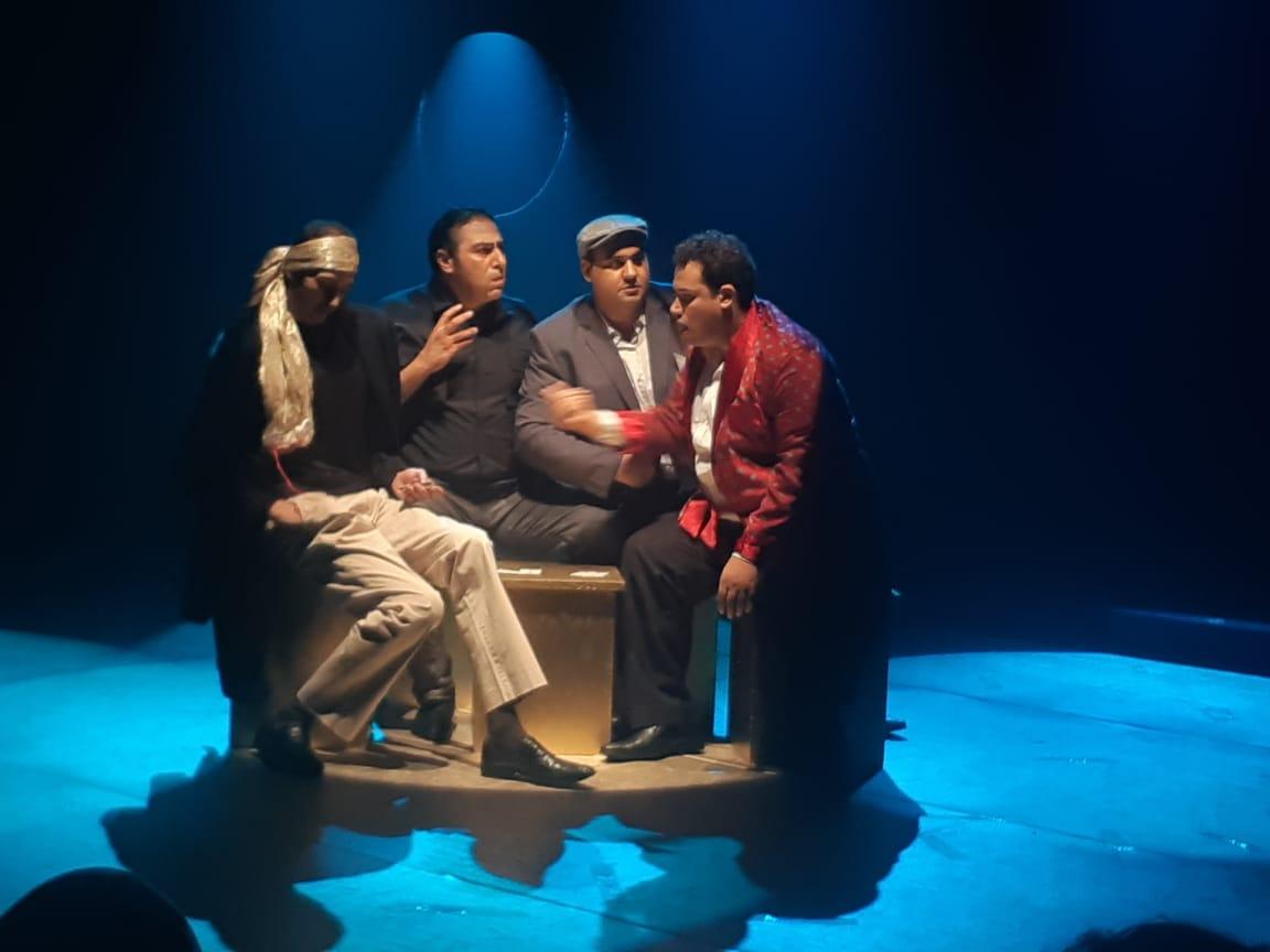 مشهد من مسرحية سينما مصر