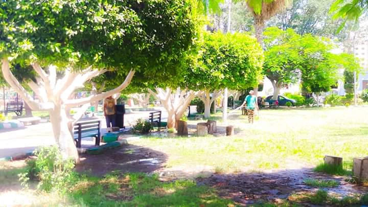 رفع كفاءة حدائق شجرة الدر والمجزر (7)