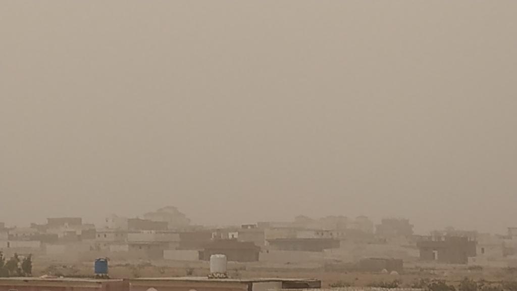 طقس حار يضرب محافظة مطروح والسحب الترابية تحجب الشمس (7)