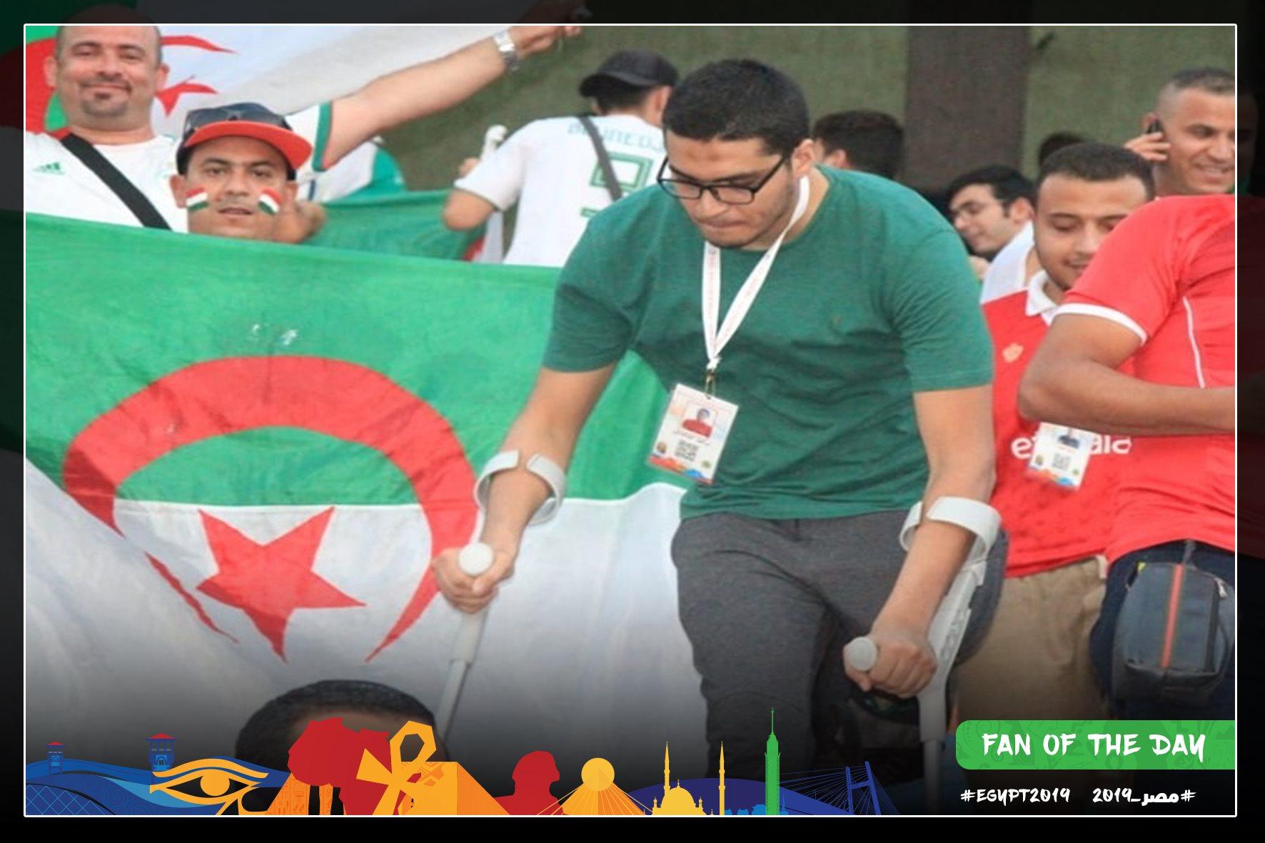 مشجع في مباراة الجزائر