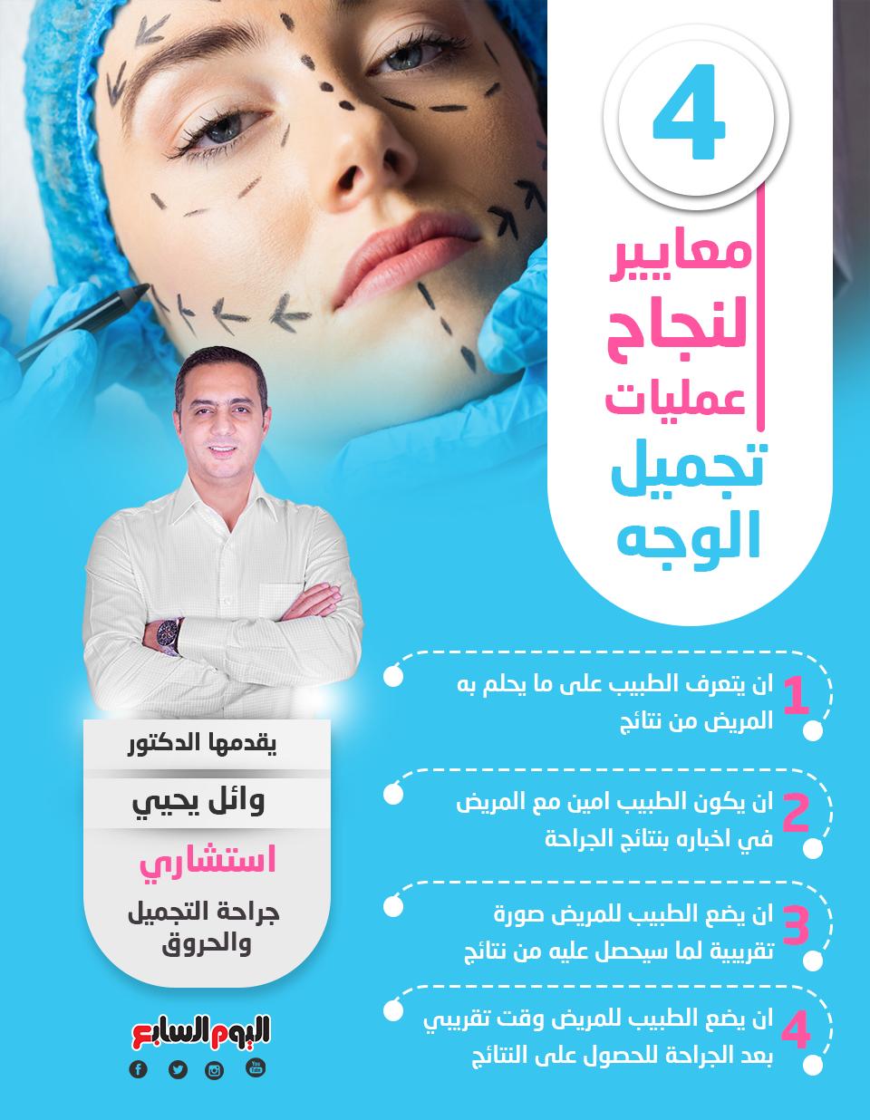 4 معايير لنجاح عمليات تجميل الوجه