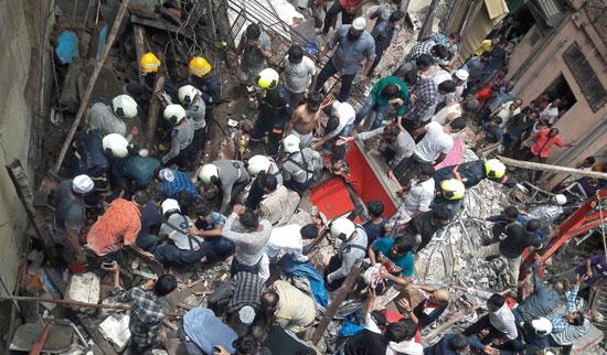 نهيار-مبنى-سكنى-فى-مومباى