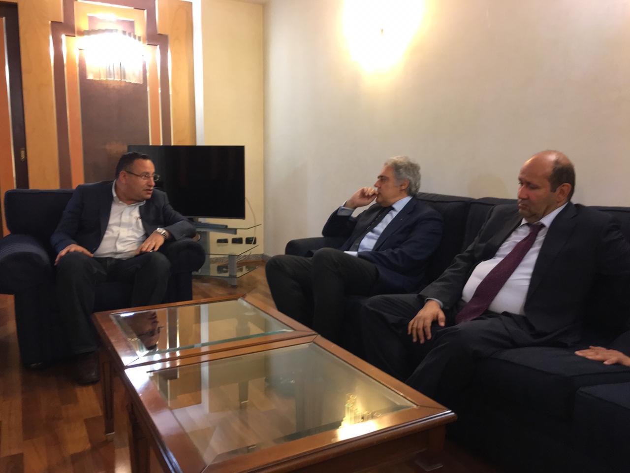 محافظ الإسكندرية يختتم زيارته لإيطاليا بلقاء نائب عمدة جنوة (1)