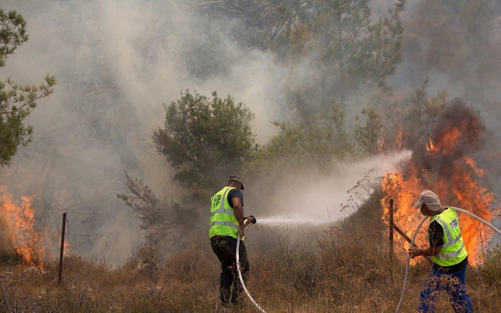 الحرائق فى إسرائيل (1)