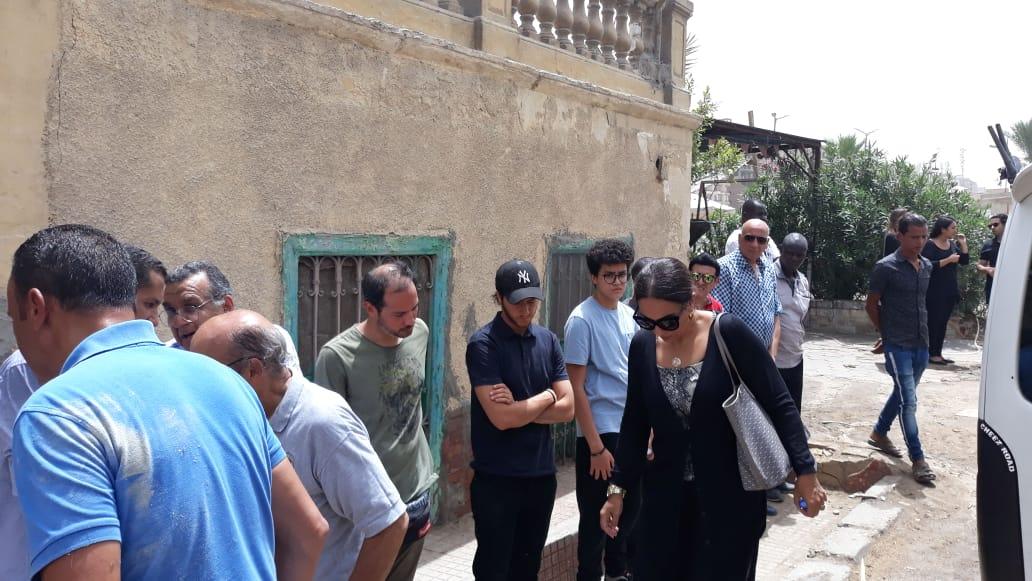 أحمد مالك فى الجنازة