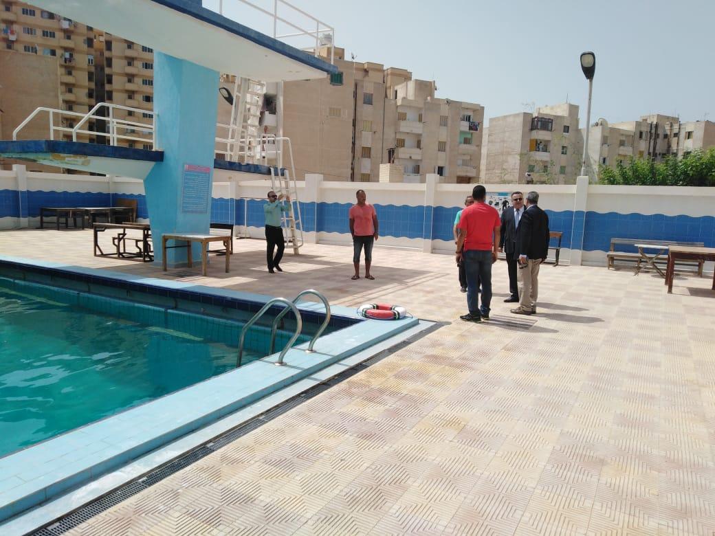 نائب رئيس جامعة الإسكندرية يتفقد اختبارات القدرات (1)