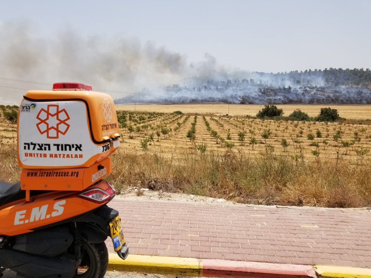 Fire in various parts of Israel
