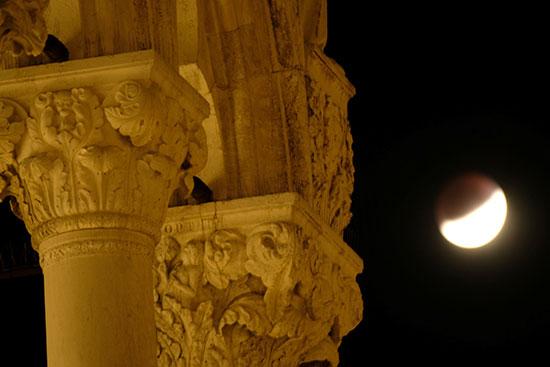خسوف القمر فى إيطاليا (1)