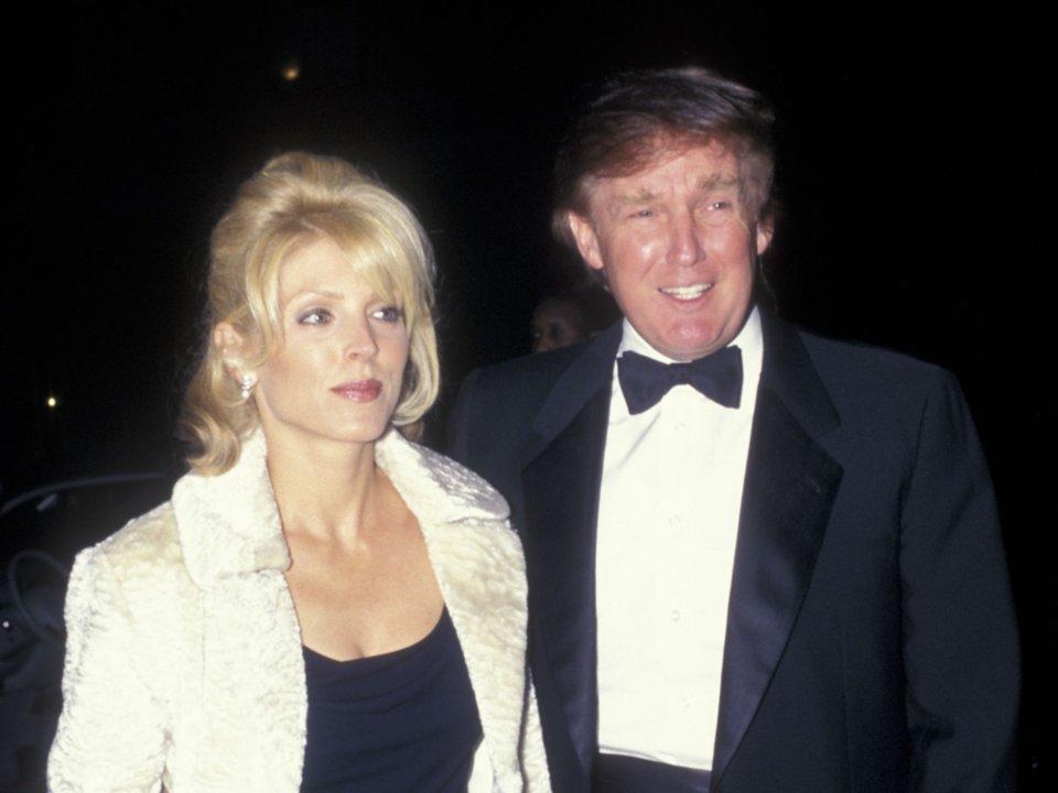 دونالد ترامب ومارلا مابلز في عام 1997