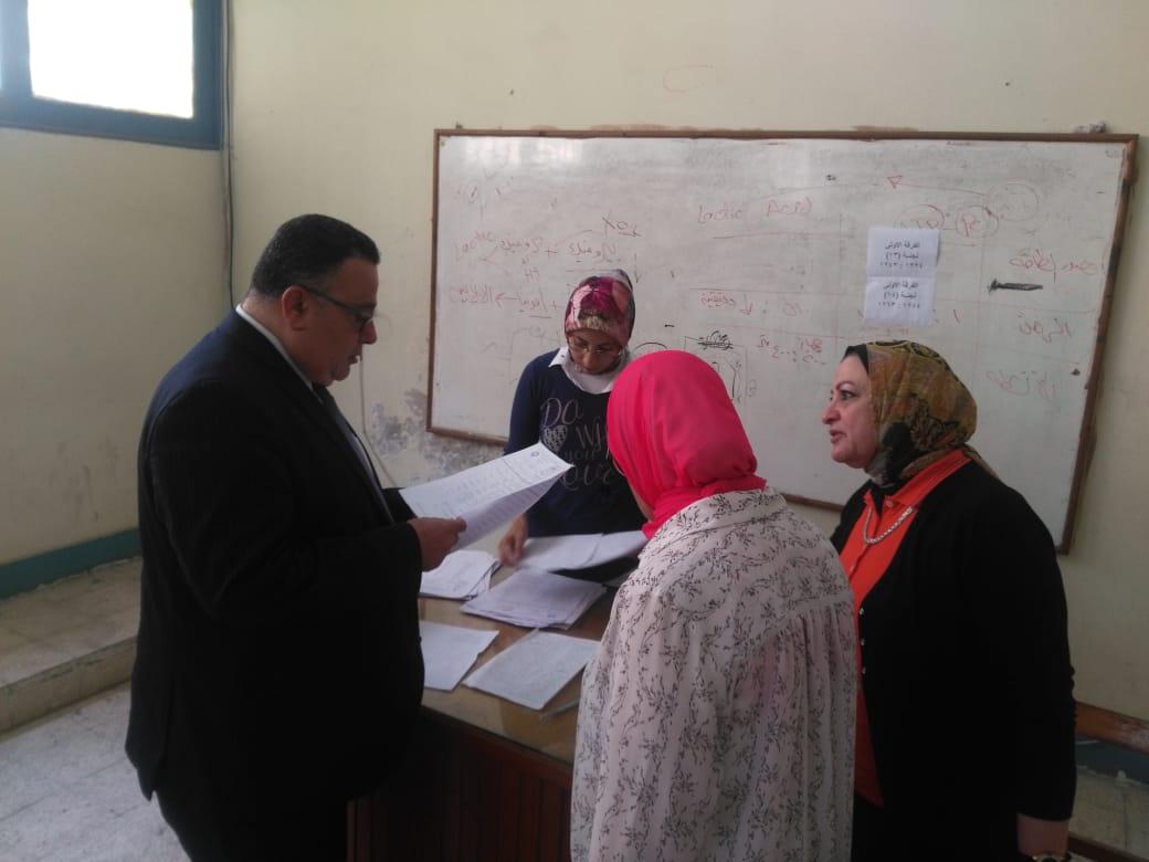 نائب رئيس جامعة الإسكندرية يتفقد اختبارات القدرات (6)