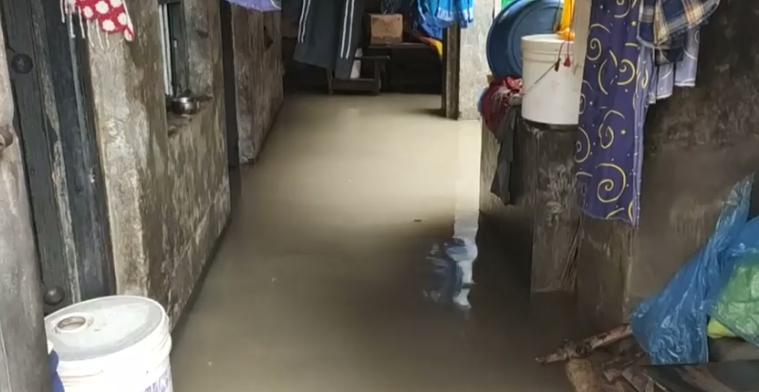 جانب من الفيضانات فى نيبال