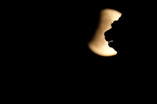خسوف القمر فى إيطاليا (5)
