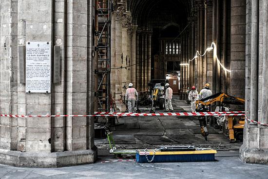 استمرار أعمال الترميم بكاتدرائية نوتردام بفرنسا بعد حريق (6)