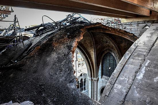 استمرار أعمال الترميم بكاتدرائية نوتردام بفرنسا بعد حريق (4)