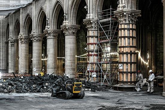 استمرار أعمال الترميم بكاتدرائية نوتردام بفرنسا بعد حريق (9)