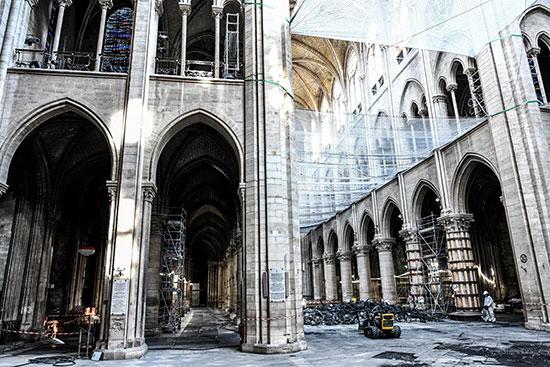 استمرار أعمال الترميم بكاتدرائية نوتردام بفرنسا بعد حريق (1)