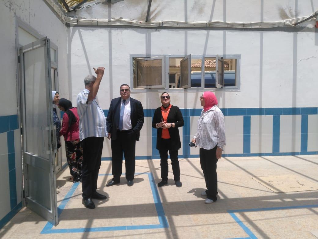 نائب رئيس جامعة الإسكندرية يتفقد اختبارات القدرات (4)