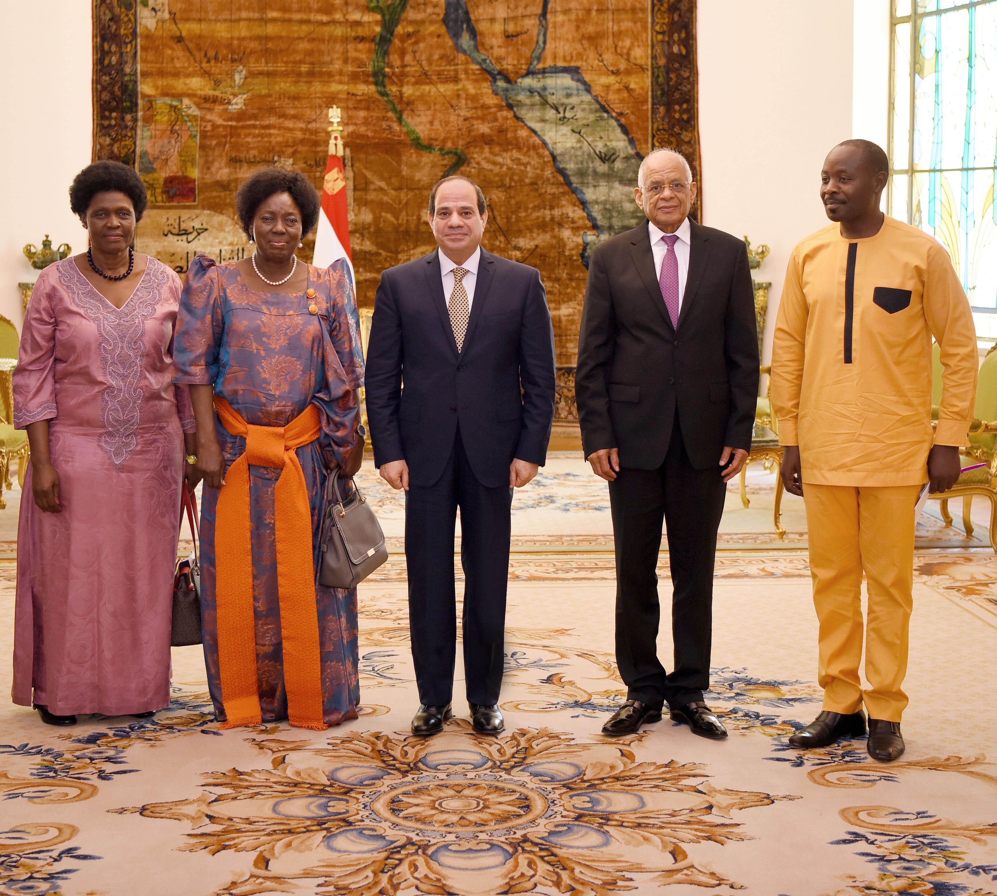 السيسى يستقبل رئيسة برلمان أوغندا (1)