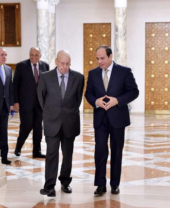 السيسى يستقبل عبد القادر بن صالح