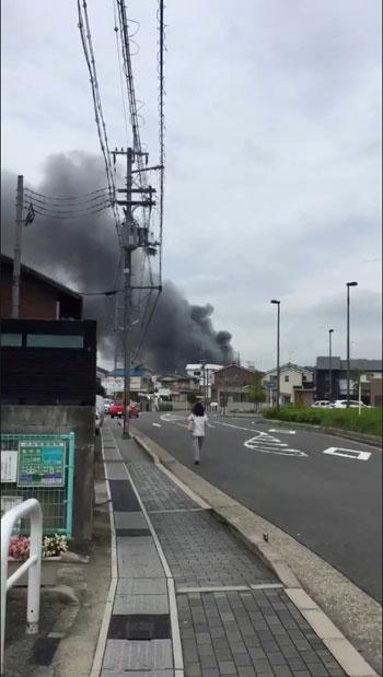 حريق-استوديو-فى-اليابان