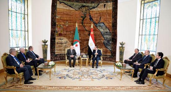 السيسى يستقبل عبد القادر بن صالح  (2)
