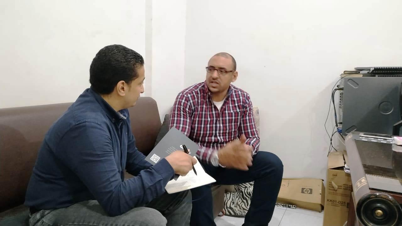 -مدير إدارة اختبار وتشغيل البرامج بشركة جنوب القاهرة لتوزيع الكهرباء مع محرر اليوم السابع