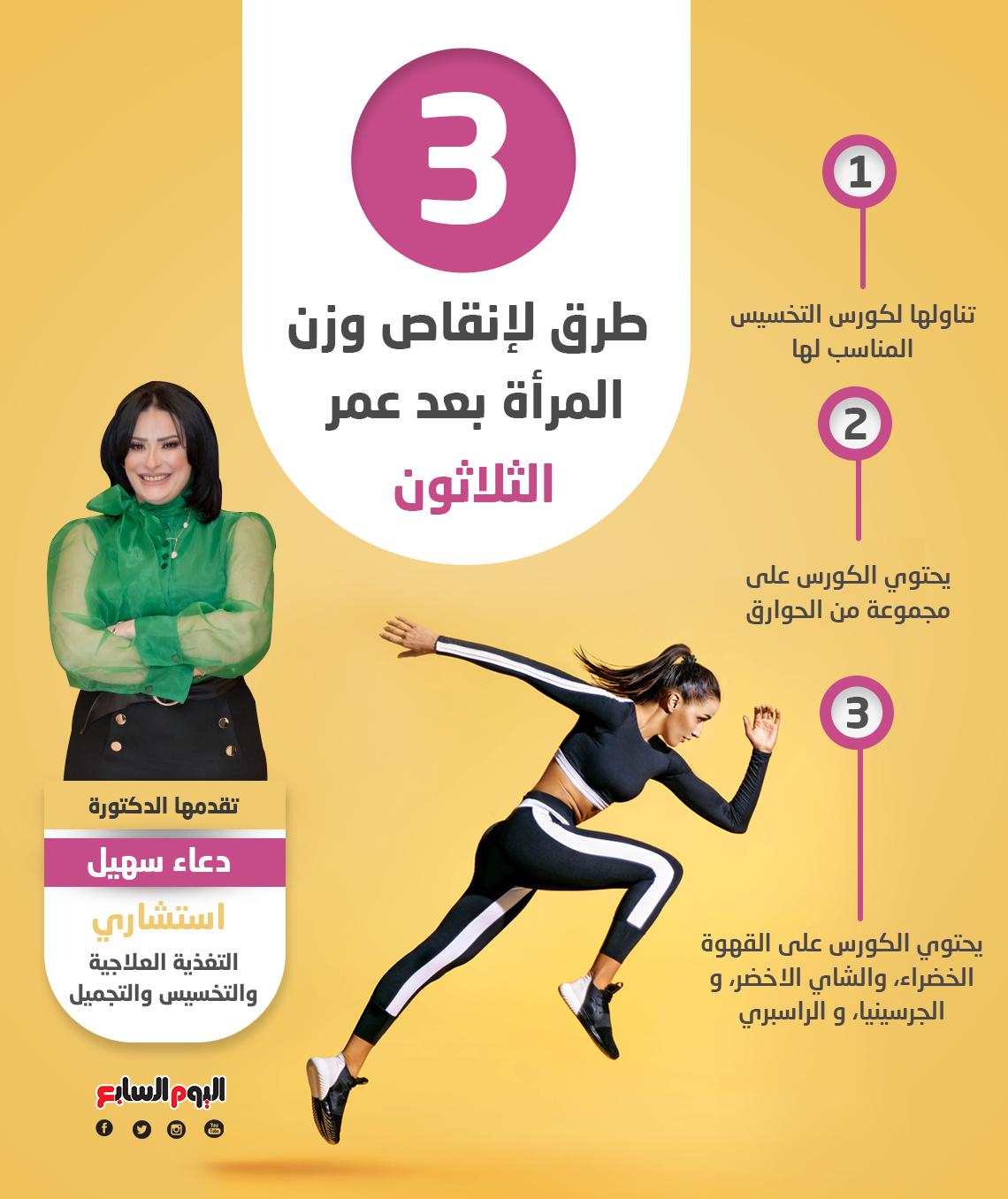 3 طرق لإنقاص وزن المرأة بعد عمر الثلاثون