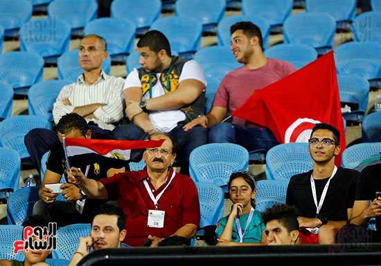 علم مصر فى مدرجات تونس