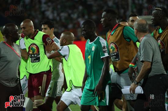 اشتباكات لاعبى الجزائر والسنغال  (6)