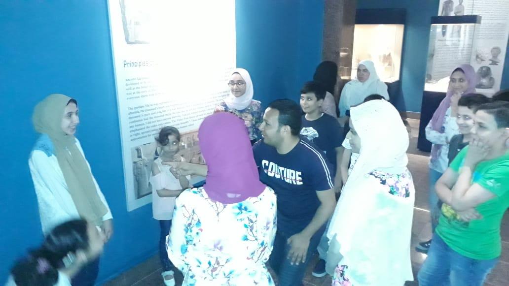 مشاركة الأطفال فى مبادرة اكتشف موهبتك بمتحف ملوى (3)
