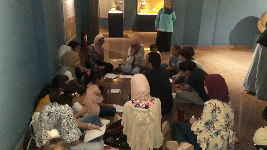 مشاركة الأطفال فى مبادرة اكتشف موهبتك بمتحف ملوى (8)