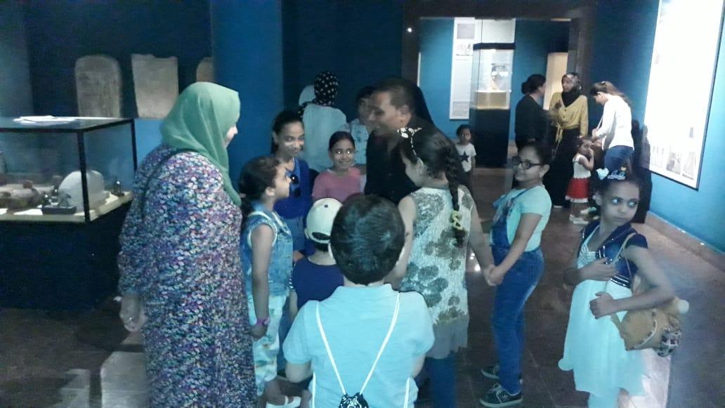 مشاركة الأطفال فى مبادرة اكتشف موهبتك بمتحف ملوى (4)