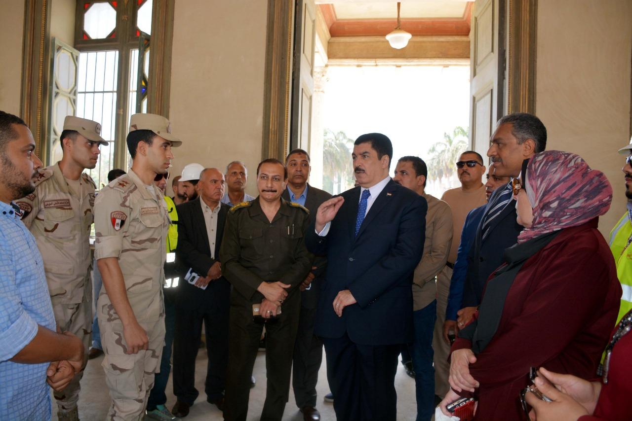 محافظ القليوبية يتفقد أعمال ترميم قصر محمد علي بشبرا الخيمة (7)