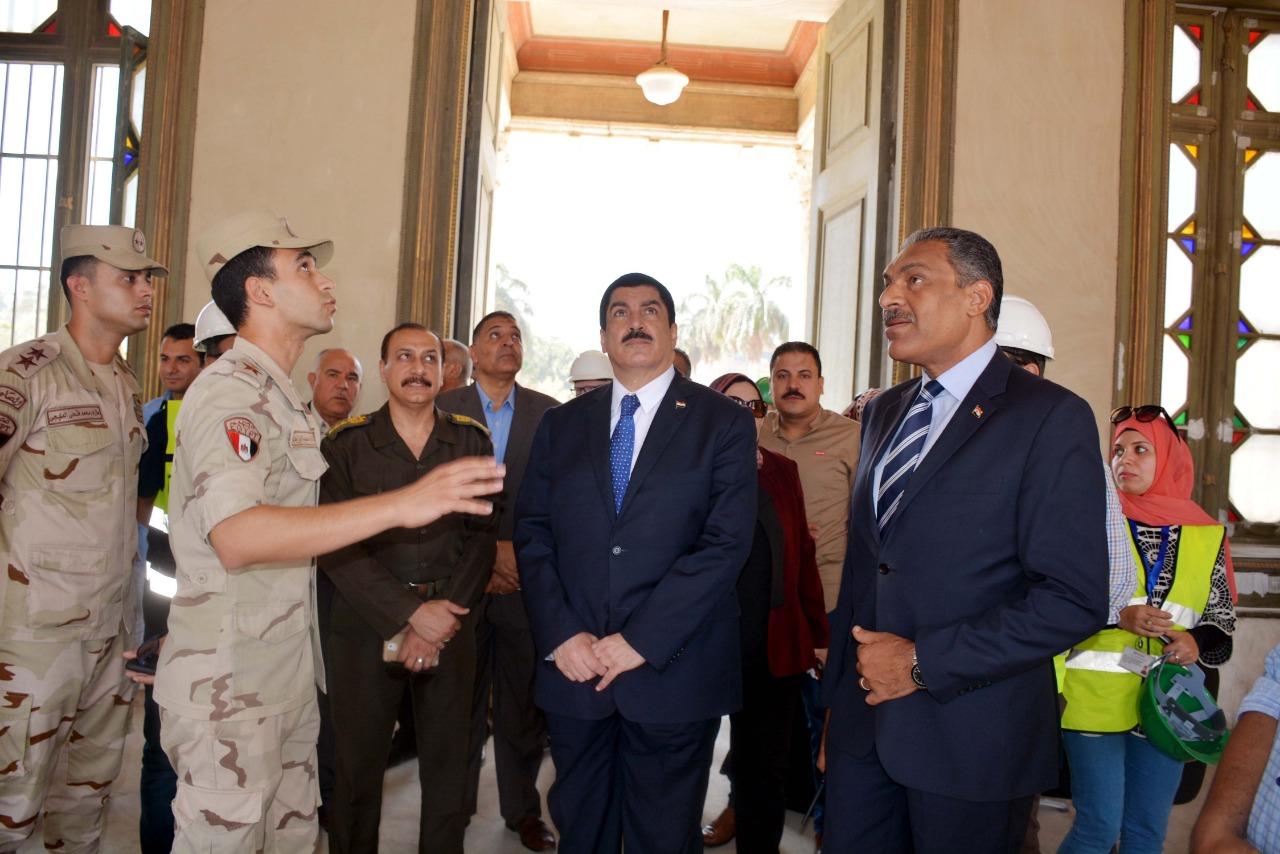 محافظ القليوبية يتفقد أعمال ترميم قصر محمد علي بشبرا الخيمة (6)