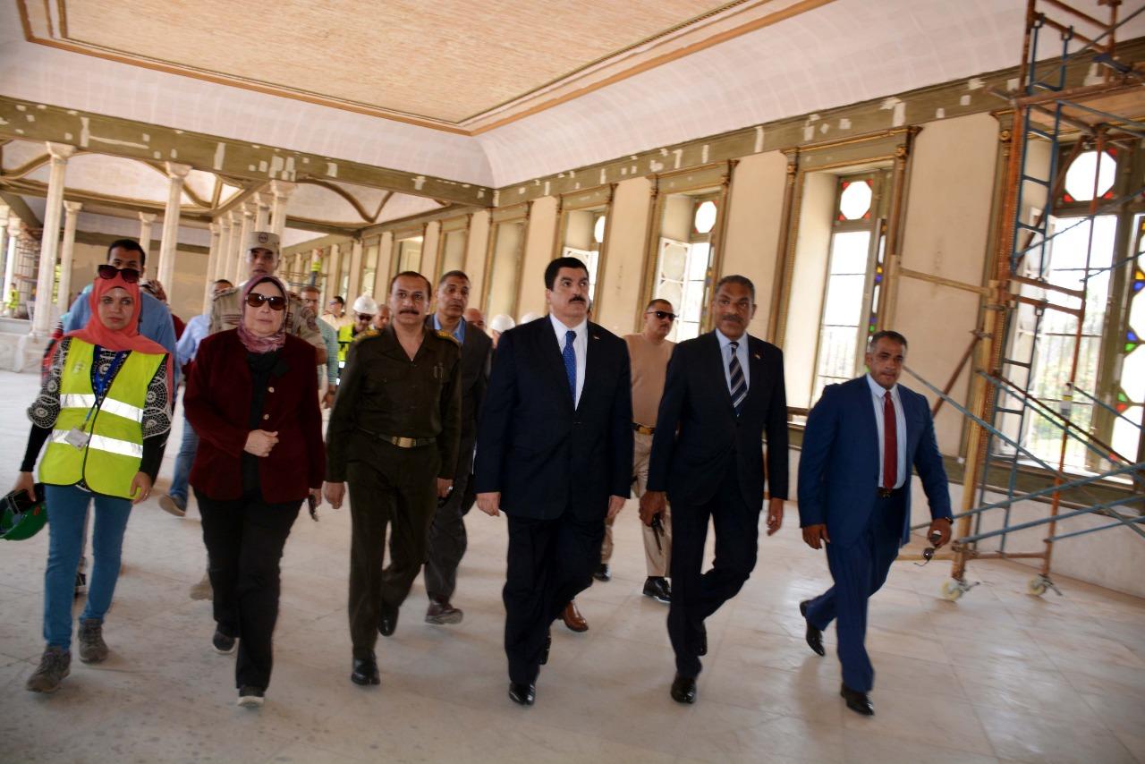 محافظ القليوبية يتفقد أعمال ترميم قصر محمد علي بشبرا الخيمة (5)