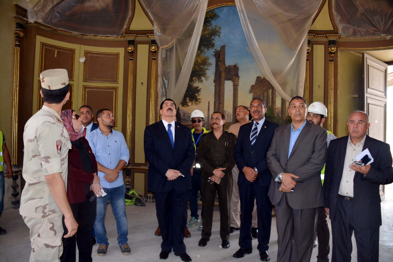 محافظ القليوبية يتفقد أعمال ترميم قصر محمد علي بشبرا الخيمة (2)