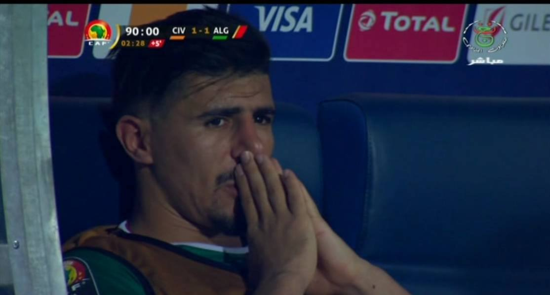 بكاء بغداد بونجاح في مباراة كوت ديفوار