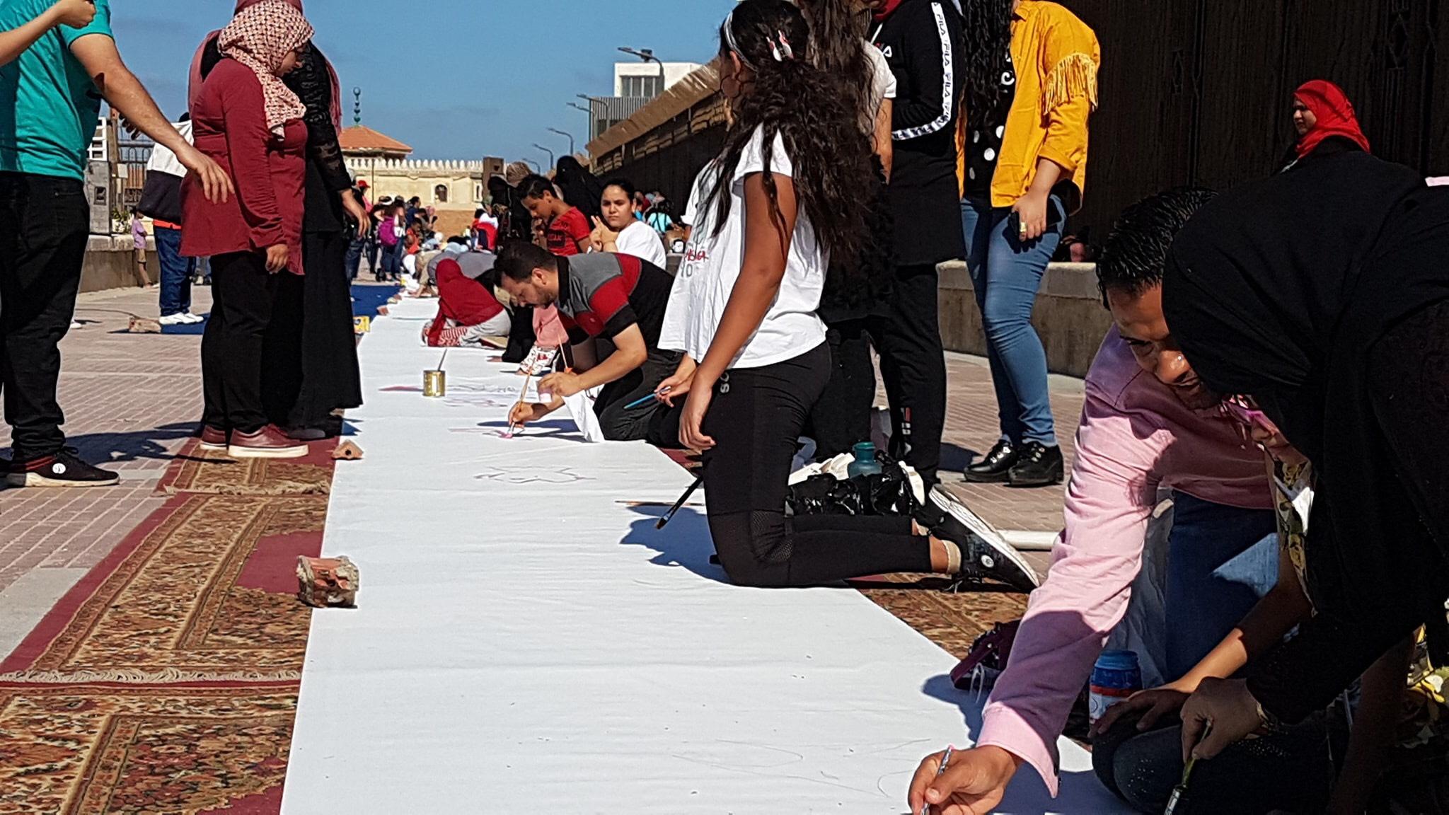 طلاب بورسعيد يرسمون معالمها (26)