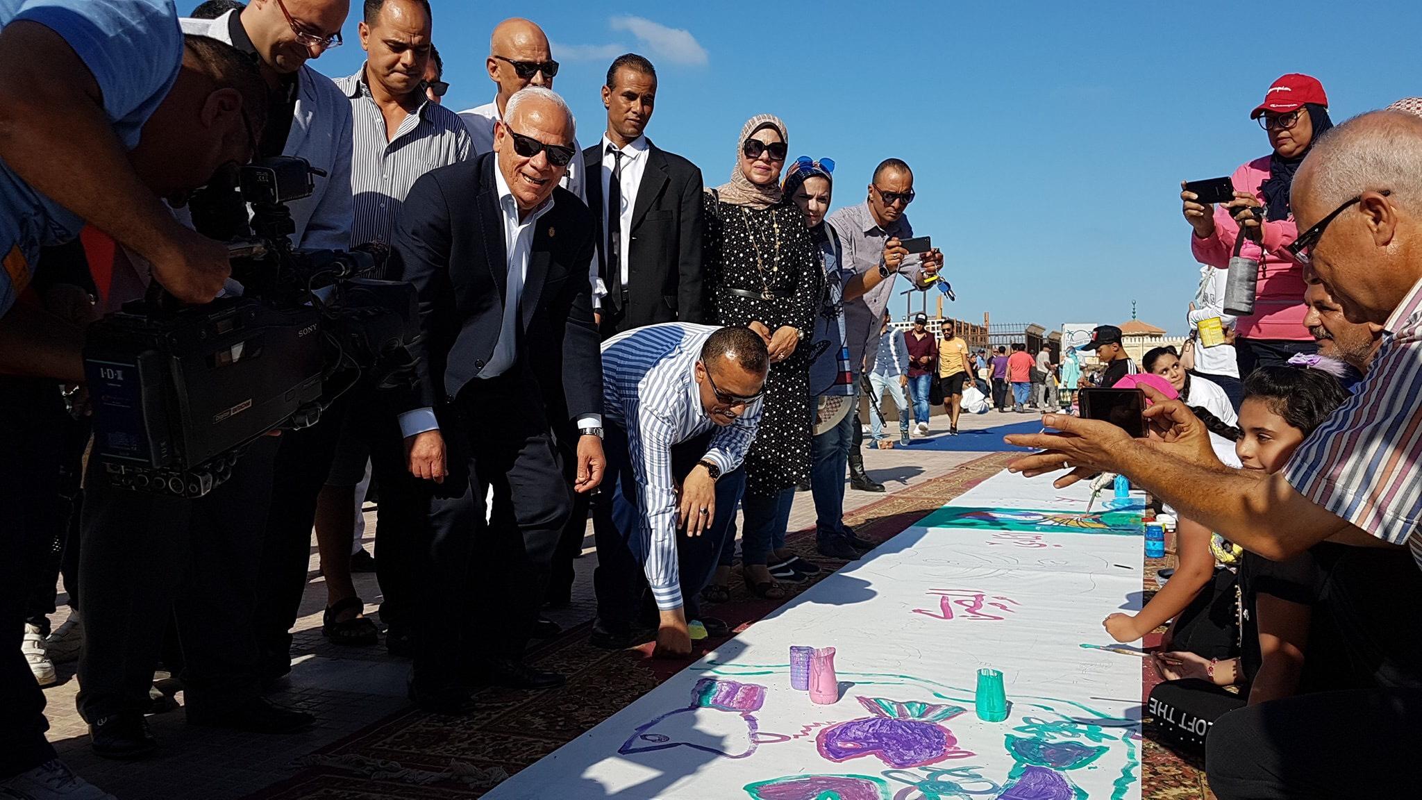 طلاب بورسعيد يرسمون معالمها (4)