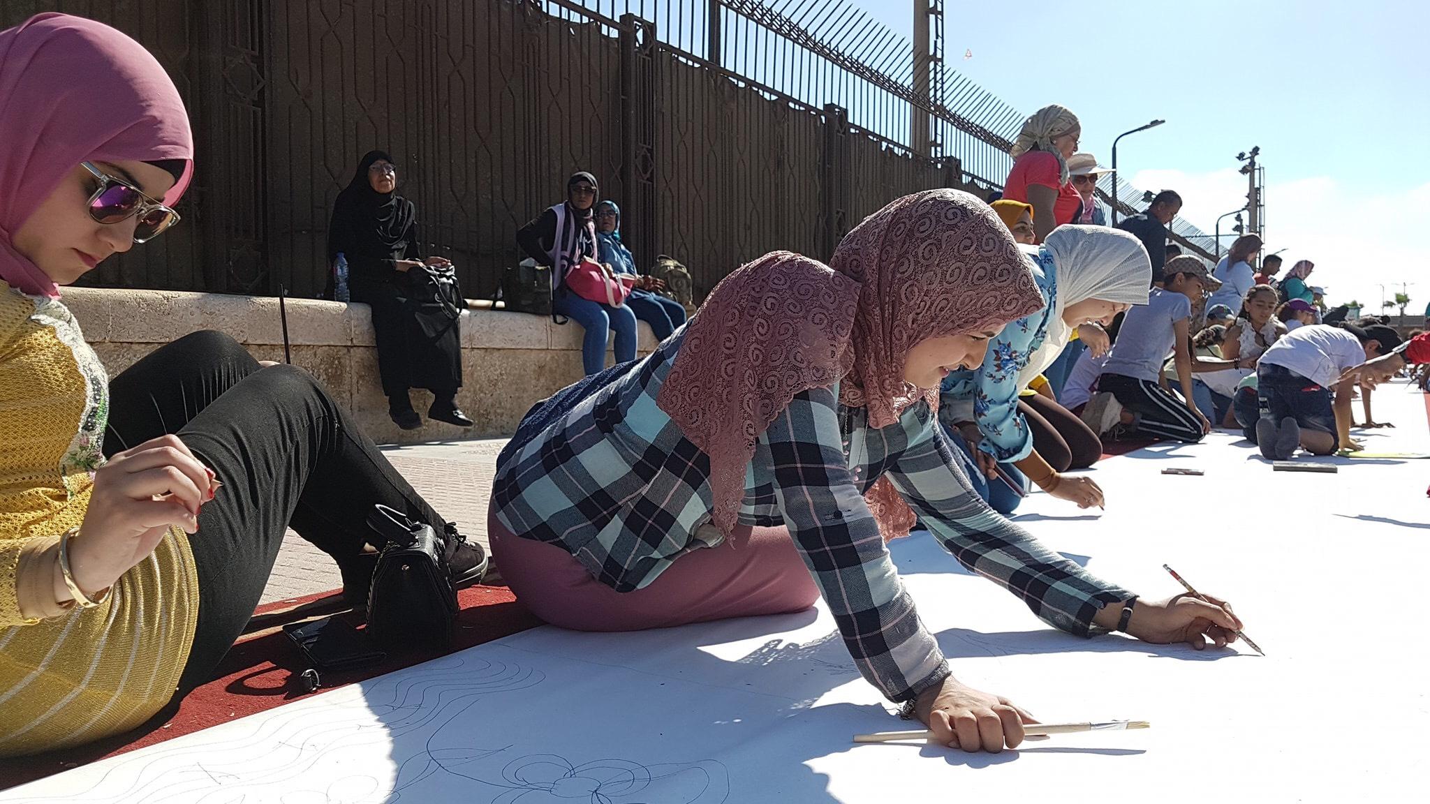 طلاب بورسعيد يرسمون معالمها (13)