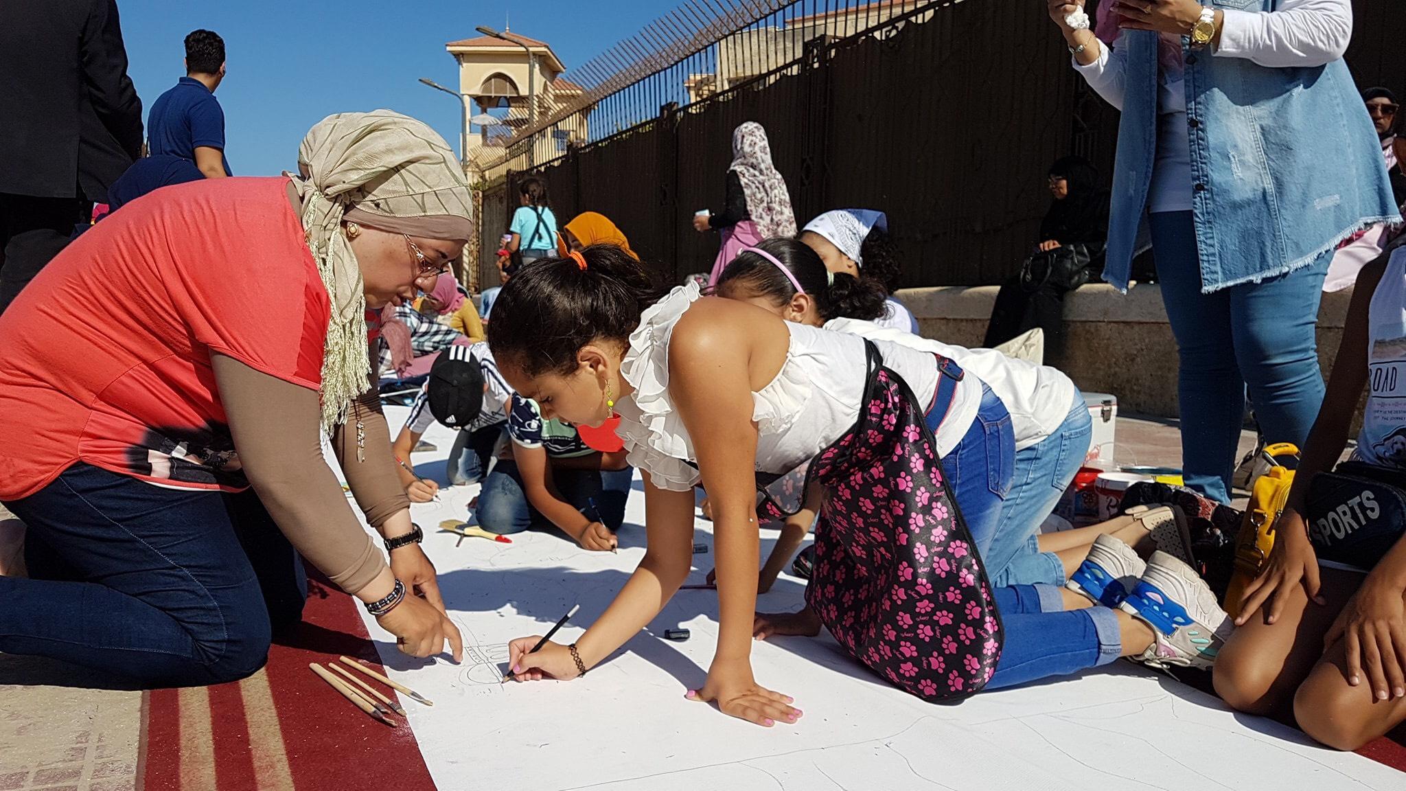 طلاب بورسعيد يرسمون معالمها (14)