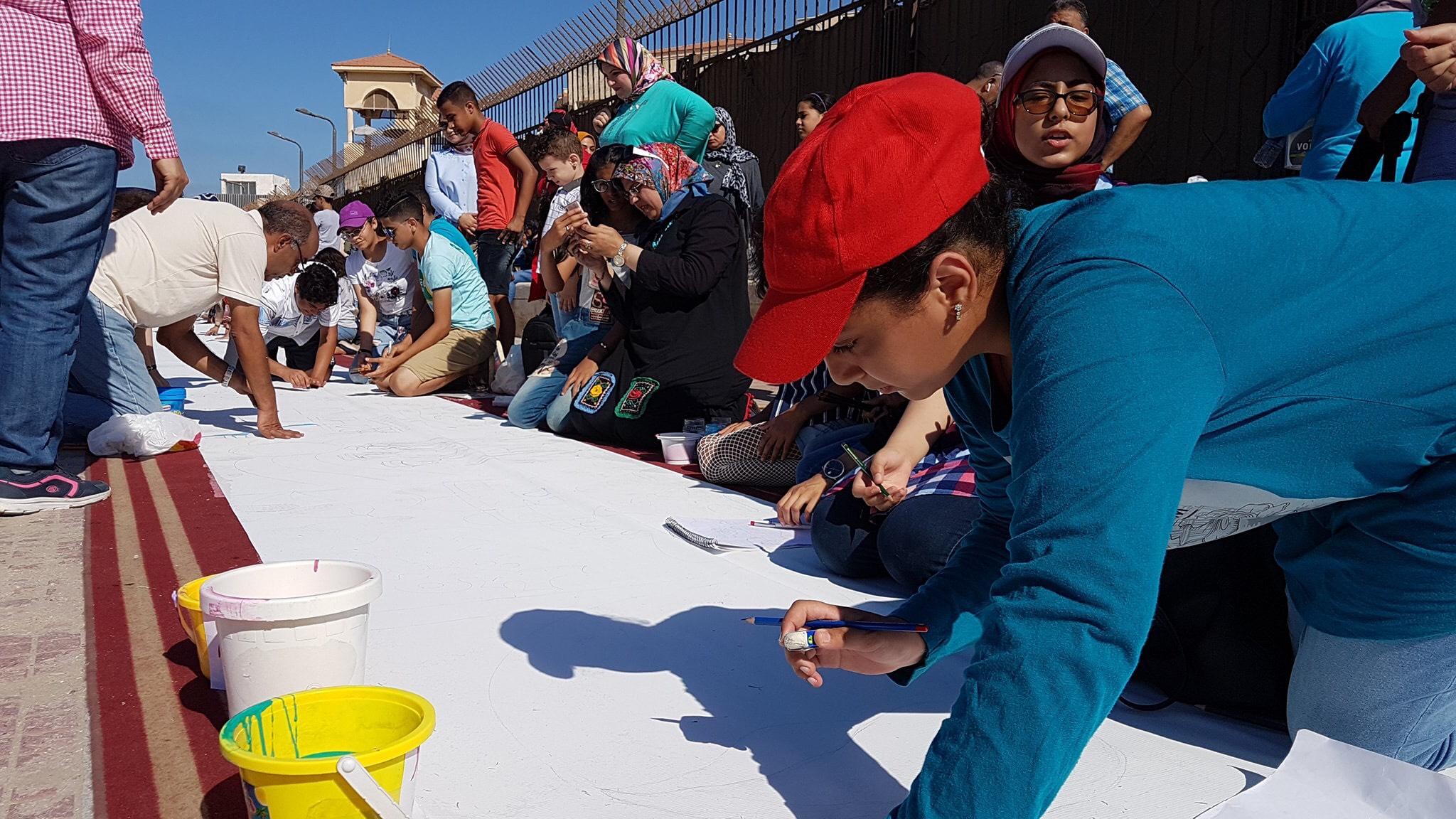 طلاب بورسعيد يرسمون معالمها (19)