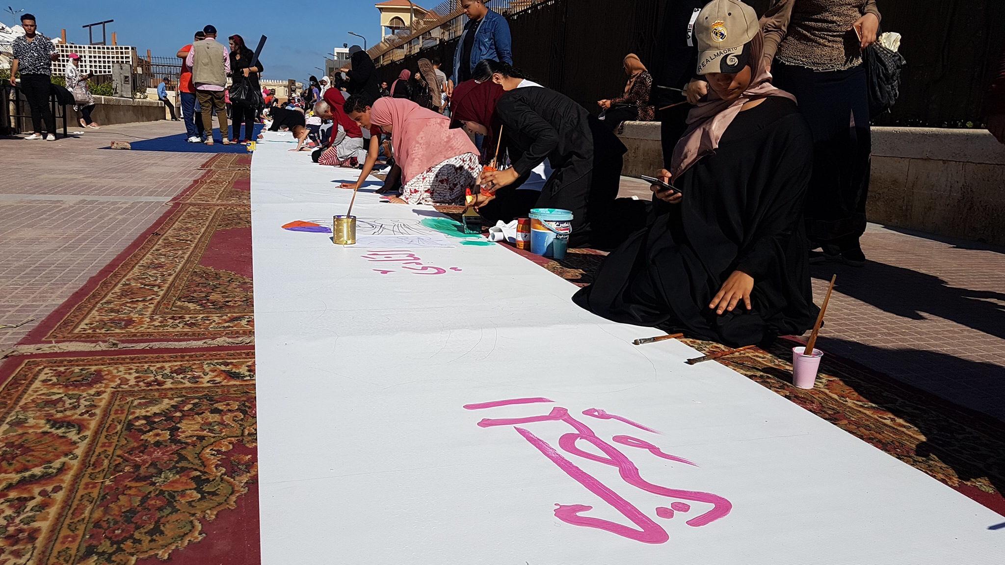 طلاب بورسعيد يرسمون معالمها (17)