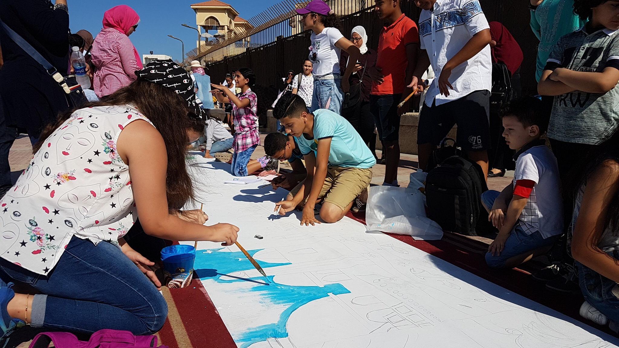 طلاب بورسعيد يرسمون معالمها (15)
