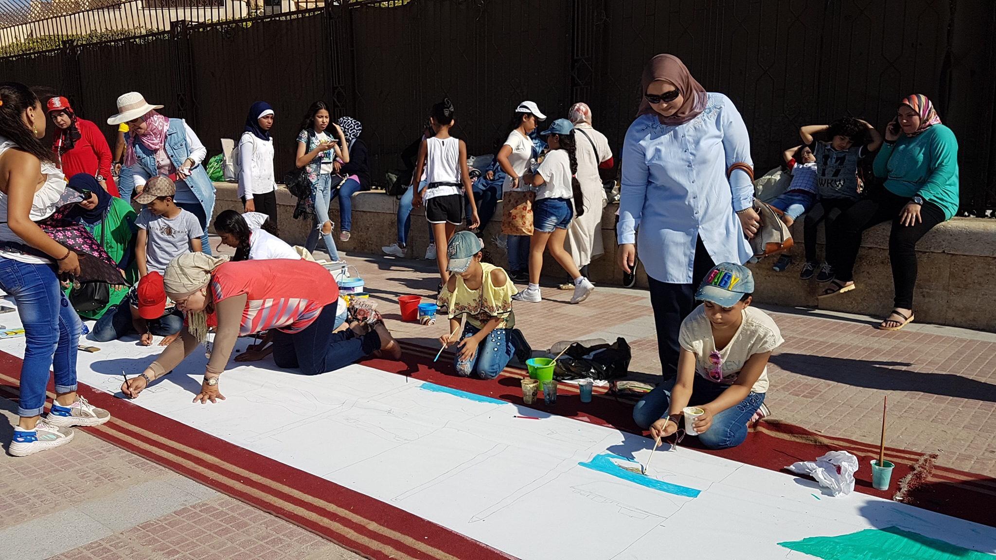 طلاب بورسعيد يرسمون معالمها (10)